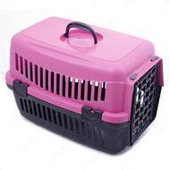 Переноска для кошек и собак розовая SG
