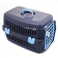 Переноска для кошек и собак темно-серая SG