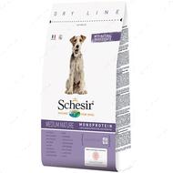 Сухой корм монопротеиновый для пожилых или малоактивных собак средних пород с курицей Schesir Dog Medium Mature