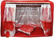 """Выставочная палатка """"Шарм и шик"""" красная с красными шторками"""