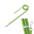 Прорезиненный поводок без ручки для собак, неоново-зеленый