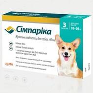 Симпарика - таблетки от блох и клещей для собак весом от 10 до 20 кг Simparica
