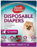 Гигиенические подгузники для собак Disposable Diapers XS/TOY Simple Solution