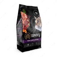 Сухой корм с мясом ягненка и курицы для стерилизованных котов и кошек SavoryAdult Cat Steril Fresh Lamb & Chicken
