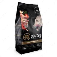 Сухой корм из свежей утки и кролика для взрослых собак всех пород Savory Adult All Breeds rich in Fresh Duck & Rabbit