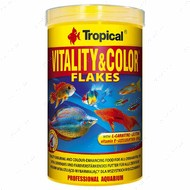 Сухой корм для всех видов аквариумных рыб в хлопьях Vitality Color TROPICAL