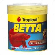 Сухой корм для петушков в хлопьях Betta TROPICAL