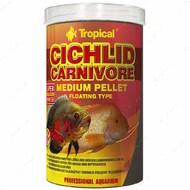 Сухой корм для плотоядных цихлид в гранулах Cichlid Carnivore Mediuml Pellet TROPICAL