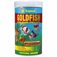 Сухой корм для золотых рыб в гранулах Goldfish Colour Pellet TROPICAL