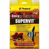 Сухой корм для всех видов аквариумных рыб в хлопьях SuperVit-Basic TROPICAL