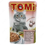 Консервы для кошек с мясом индейки TOMi veal turkey, пауч