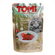 """Консервы для кошек, птица в томатном желе TOMi poultry in tomato jelly"""""""