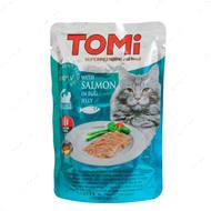 Консервы для кошек, лосось в яичном желе TOMi salmon in egg jelly, пауч