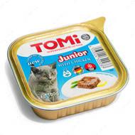 Консервы  для котят паштет с курицей TOMi junior