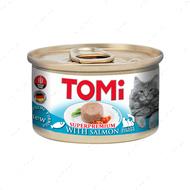 Консервы для кошек с мясом лосося мусс TOMi salmon