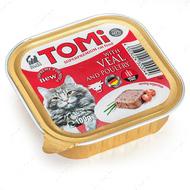Консервы для котов паштет ТЕЛЯТИНА ПТИЦА TOMi veal poultry