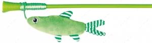 Дразнилка для кота палочка с плюшевой рыбкой Trixie Playing Rod with Fish