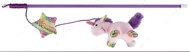 Дразнилка для кота палочка с плюшевым единорогом Trixie Playing Rod with Unicorn