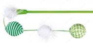 Дразнилка для кота палочка с тканевыми мячиками Trixie Playing Rod with Balls