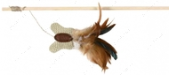 Дразнилка для кота палочка с бабочкой и пером Trixie Playing Rod butterfly