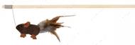 Дразнилка для кота палочка с плюшевой мышкой и пером Trixie Playing Rod mouse