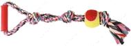 Игровой канат с мячом и пластиковой ручкой Trixie Playing Rope with Tennis Ball