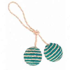 Игрушка для кота два мячика с мятой 2 Balls on a Rope