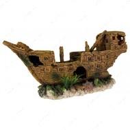 Декоративный разбитый корабль для аквариумов Shipwreck