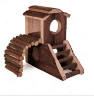 Деревянный дом-замок для хомяка Mats House
