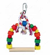 Игрушка-качели для мелких и средних птиц Arch Swing, Colourful