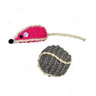 Игрушка для кошки мышка-шарик Set of Sisal Toys