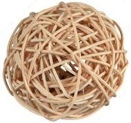 Игрушка для грызунов шарик из лозы со звонком Rattan Ball