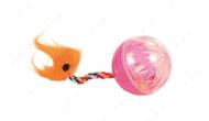 Игрушка для кошки мячик на канате Set of Rattling Balls with Tails