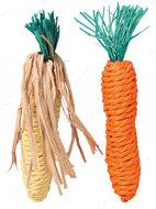 Игрушка для грызунов морковка и кукуруза Set of Straw Toys