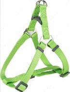 Нейлоновая шлея-петля ярко-зеленая Premium One Touch Harness apple