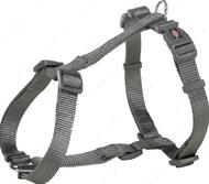Нейлоновая шлея-восьмёрка графитовая Premium H-Harness graphite