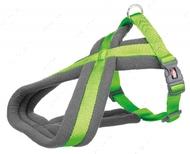 Шлея для собак нейлоновая ярко-зелёная Premium Touring Harness apple