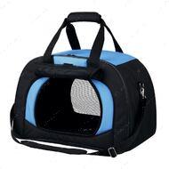 Сумка-переноска для кошек и собак сине-черная Kilian
