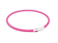 Ошейник для собак розовый USB Flash Light Ring