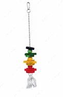 Игрушка деревянная разноцветная на канате Wooden Toy, Colourful