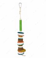 Игрушка для попугаев с вулканической лавой Natural Toy with Lava Stones