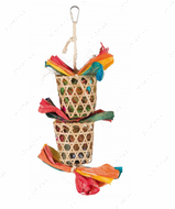 Игрушка для попугаев с пальмовыми листьями Natural Toy on a Sisal Rope