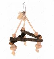 Игрушка для попугаев треугольник из натурального дерева Natural Living Swing on Rope