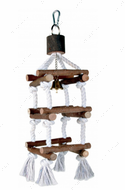 Игрушка для попугаев башня из натурального дерева Natural Living Tower with Rope