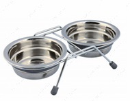 Стойка с двумя мисками для собак Eat on Feet Bowl Set with Rattle Protection