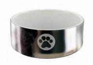 Миска керамическая серебро Ceramic Bowl