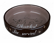Миска керамическая для плоскомордых котов Ceramic Bowl for short-nosed Breeds