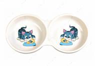 Миска двойная керамическая для котов Ceramic Double Bowl