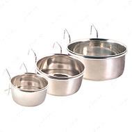Миска металлическая подвесная Stainless Steel Bowl with Holder