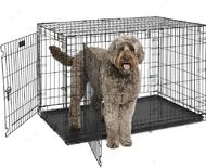 Металлическая клетка для собак с пластиковым поддоном